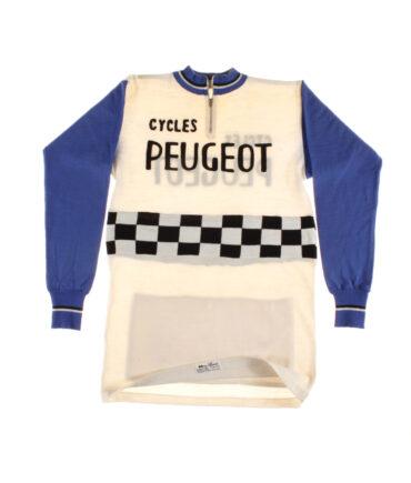 France. Cycles Peugeot Cycling wool Rare t-shirt 50s