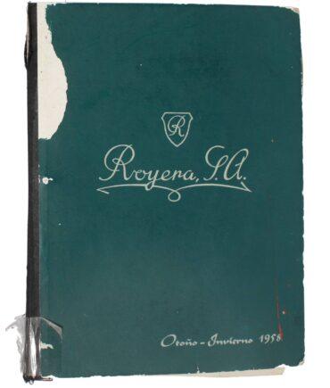 ROYERA S.A. Fall-Winter 1958 textile book