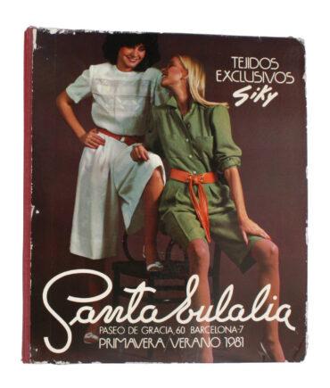 SANTA EULALIA Spring-Summer 1981 textile book