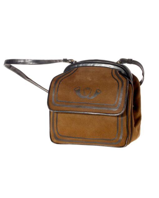vintage ROBERTA DI CAMERINO Rare leather bag 60s