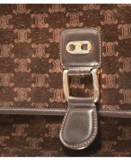 vintage CELINE Velour bag 70s