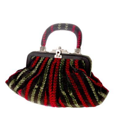 vintage ROBERTA DI CAMERINO Velour handbag 60s