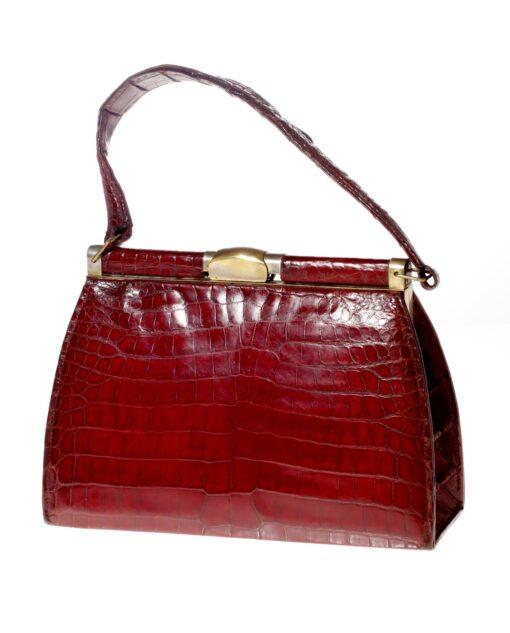 vintage Crocodile leather bag 50s