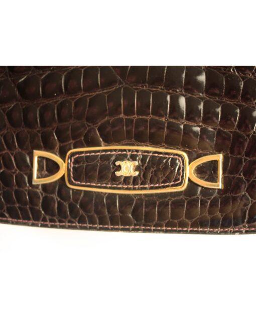 vintage CELINE Crocodile leather bag '80s