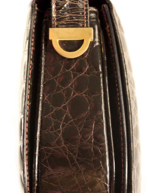 Vintage CELINE Crocodile leather bag 80s