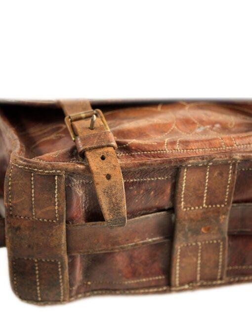 vintage JEAN PAGE leather bag 30/40s