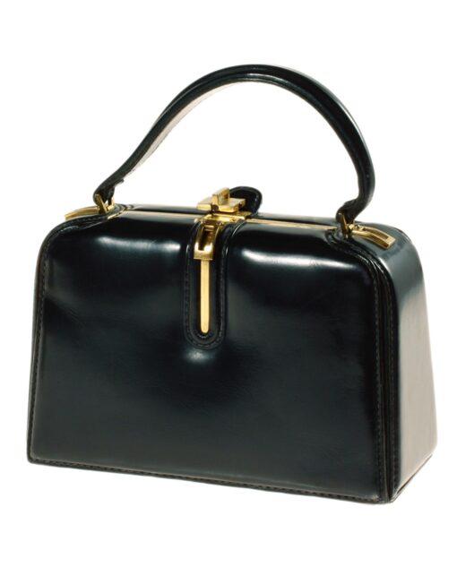 vintage FERNANDE DESGRANGES Leather handbag 50s