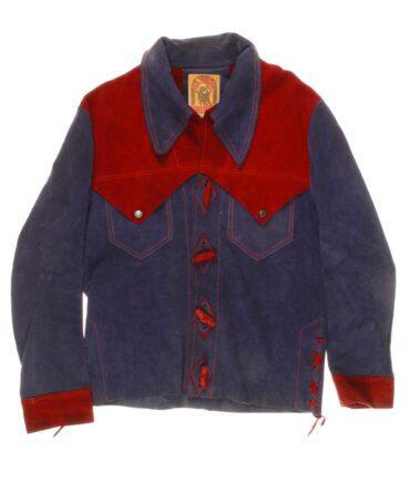 vintage EL TORO BRAVO Man suede shirt 60/70s