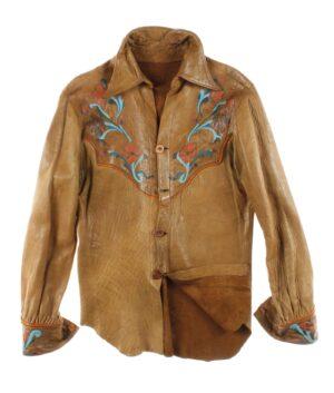 vintage Man leather shirt 60/70s