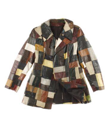 vintage vintage Woman leather patched jacket 60/70s