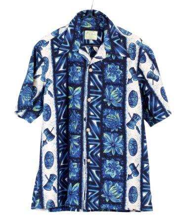 vintage UI-MAIKAI Vintage Blue Hawaii Tiki Tribal Shirt