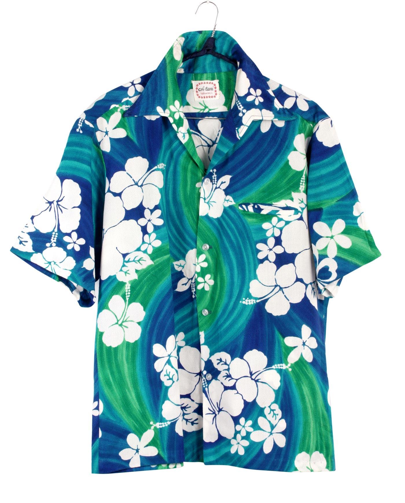 Camicia o Cabana Ragazza Hawaiano Ibisco Blu