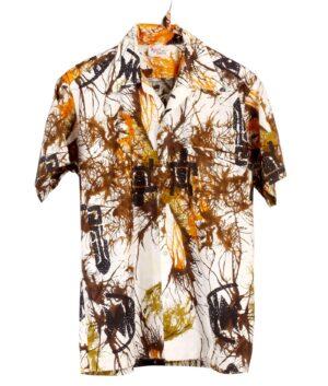vintage GO BAREFOOT IN PARADISE Hawaiian shirt