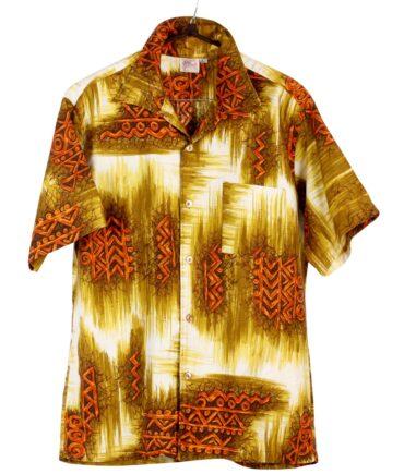vintage HAWAIIAN SANDS Tribal Tiki shirt