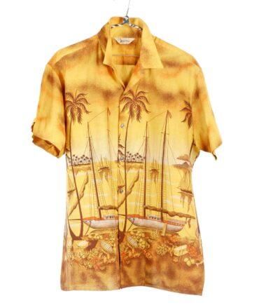 vintage BAYSHORE FLORIDA Fishing Cabana shirt