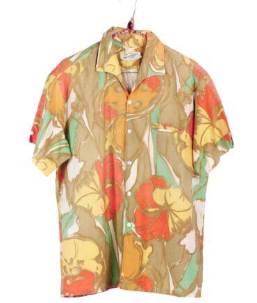 vintage DUKE OF HOLLYWOOD California Hawaiian Hibiscus shirt