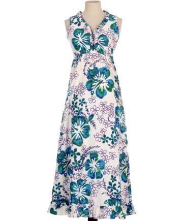 Vintage MALIHINI HAWAII Hibiscus print dress
