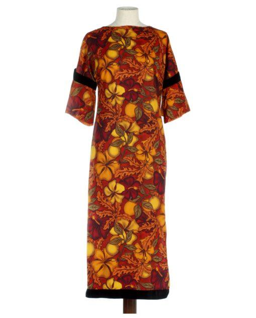Vintage NO LABEL Hawaiian dress with flowers print