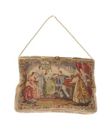vintage Rare Tapestry bag 19th century