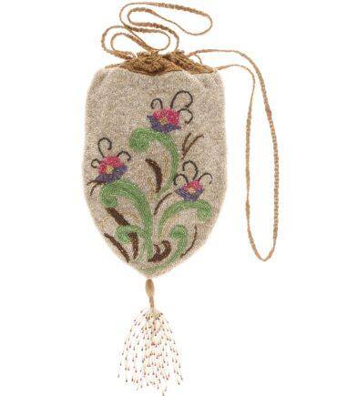 vintage Rare oriental bag with pearls