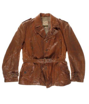 vintage SEJSON Swedish leather jacket 50s