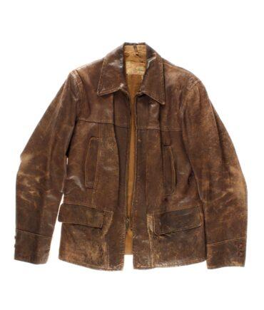 vintage LAKE-O-WOODS Leather jacket 40s