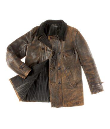vintage Long leather jacket 40s