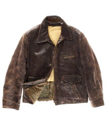 vintage vintage Leather jacket 50s