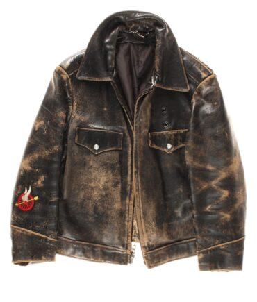 VINTAGE American police leather jacket 60s