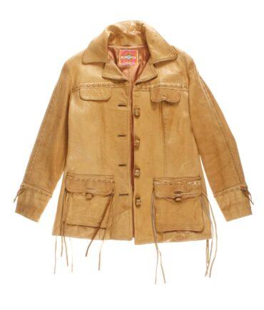 vintage MS PIONEER Woman leather jacket 60/70s
