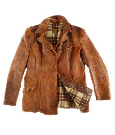 vintage MALUNG Swedish leather jacket 60s
