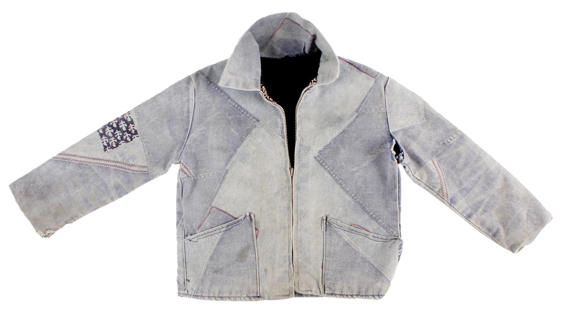 kids Denim patchwork jacket