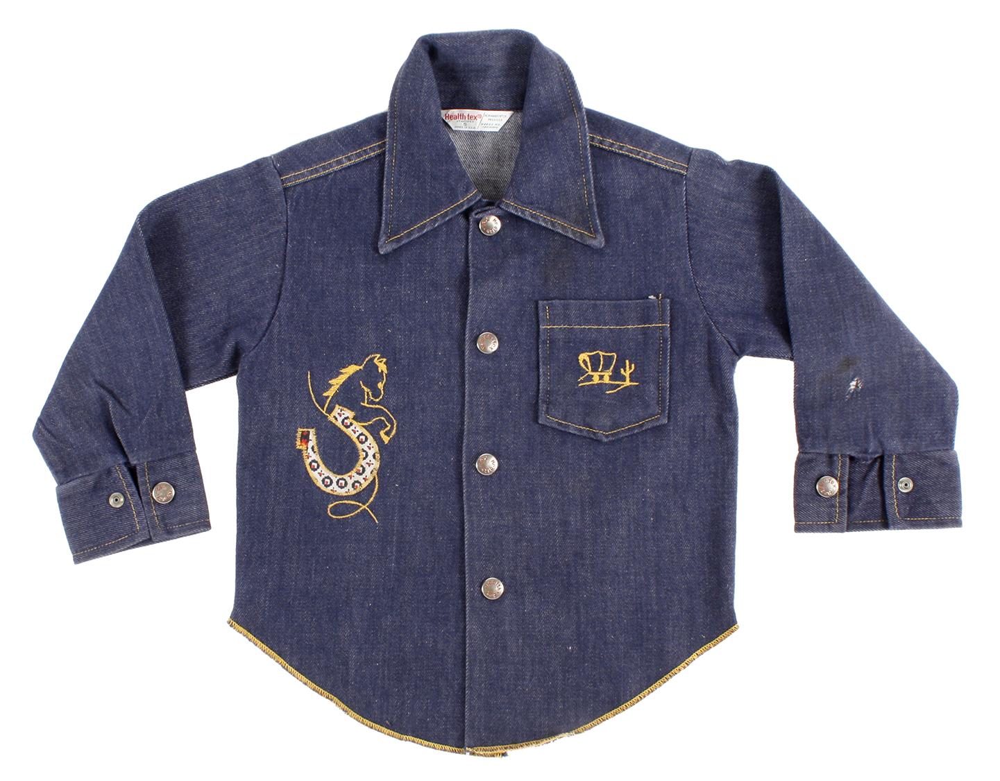 kids HEALTH TEX, denim shirt with embroidery