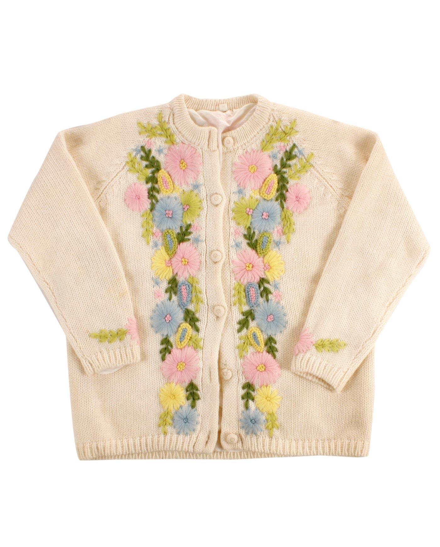 Handmade wool sweater 50-60s