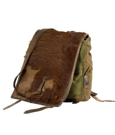 Military Bag canvas + calf hair '30/40s