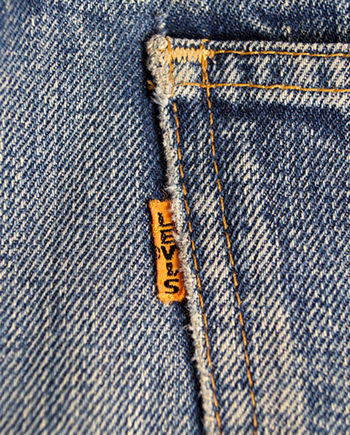 LEVIS Big E denim pant double stitching 50s - Madeinused