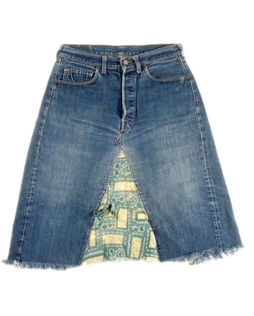 LEVIS Big E.denim skirt 60s