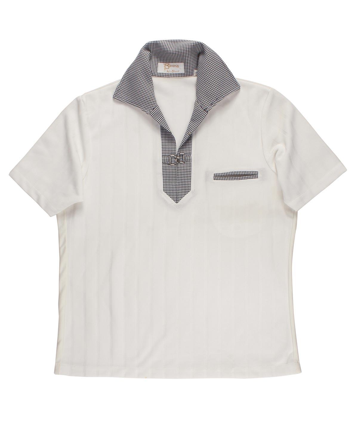 ALAN STUART synthetic fabric polo 50s