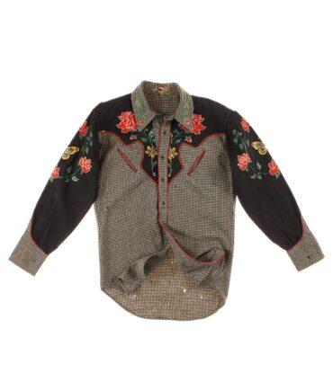 NO LABEL Rare wool shirt 30/40s