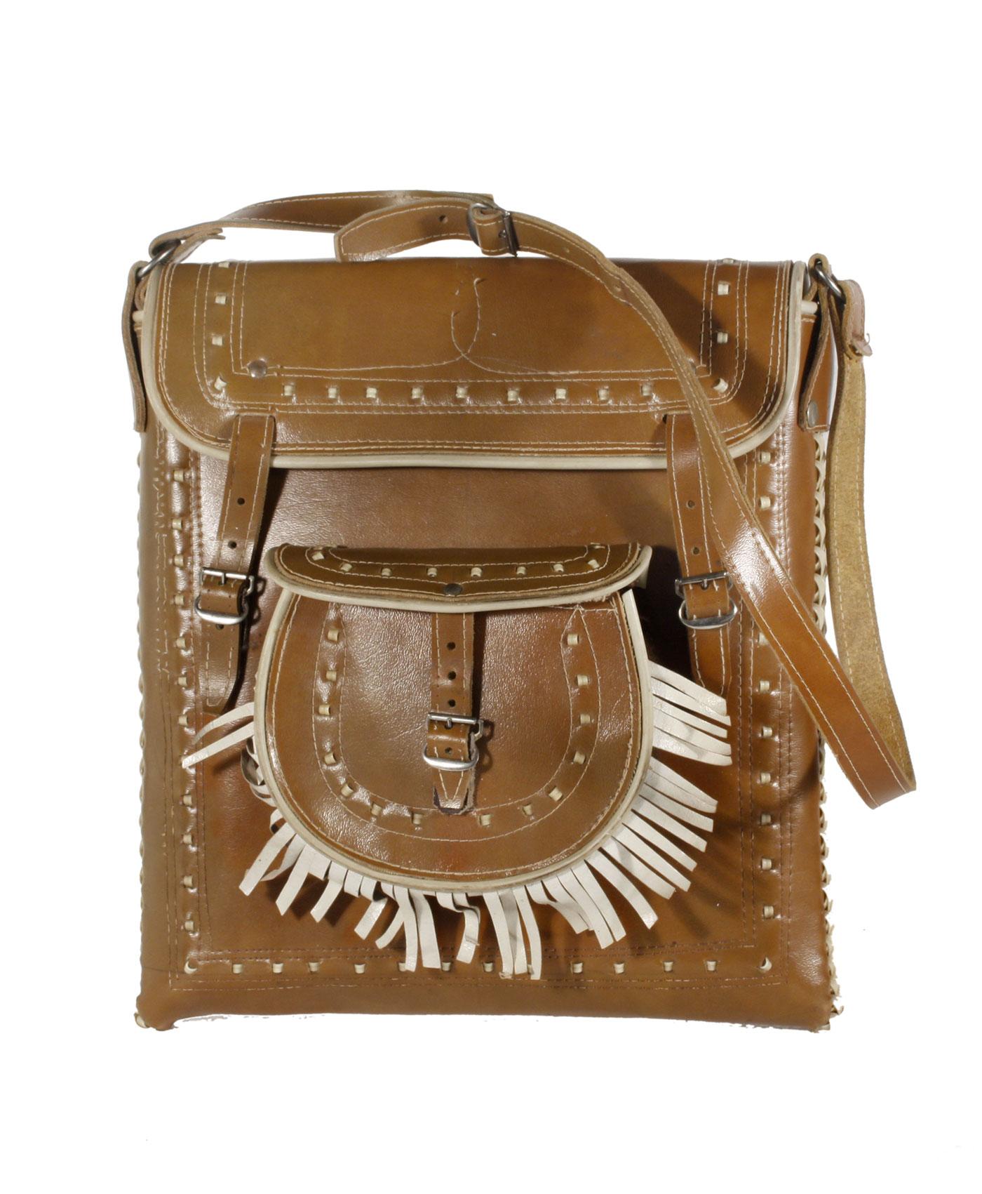 Bohemian leather bag