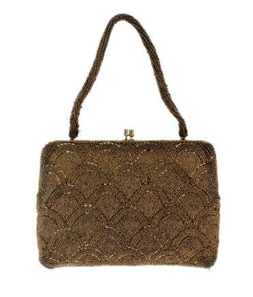 Gold pajette evening bag '40/50s