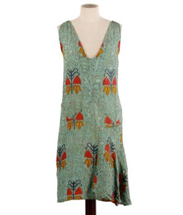 Brocade Silk Dress '30s