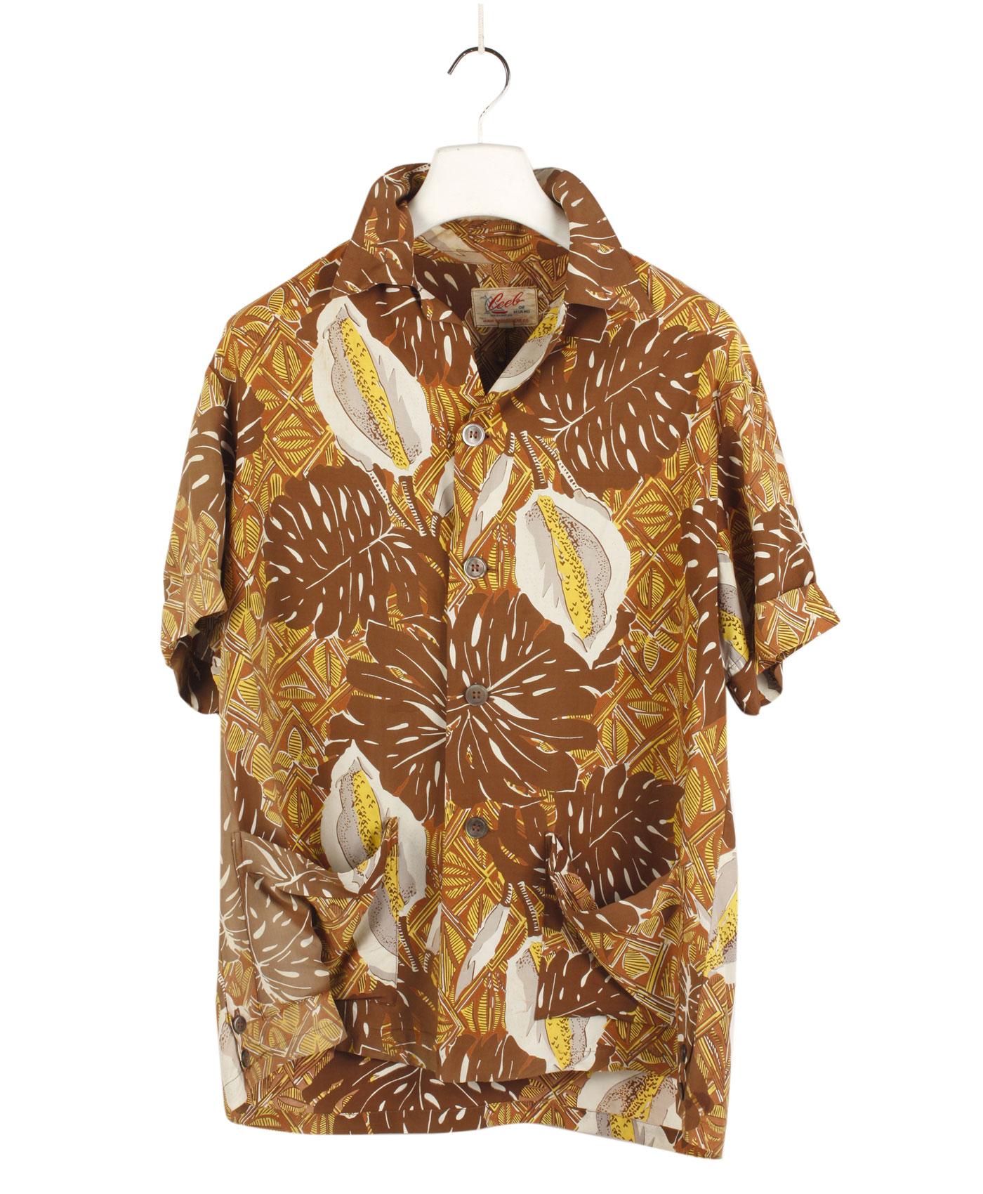 CEEB OF MIAMI Rare Hawaiian Shirt '50/60s