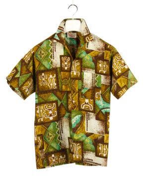 GO BAREFOOT IN PARADISE Tiki shirt '60s ca.